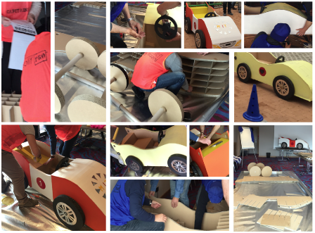 kart team construction de voiture en carton