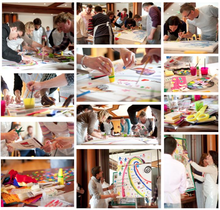 atelier créatif fresque collective team building artistique alsace