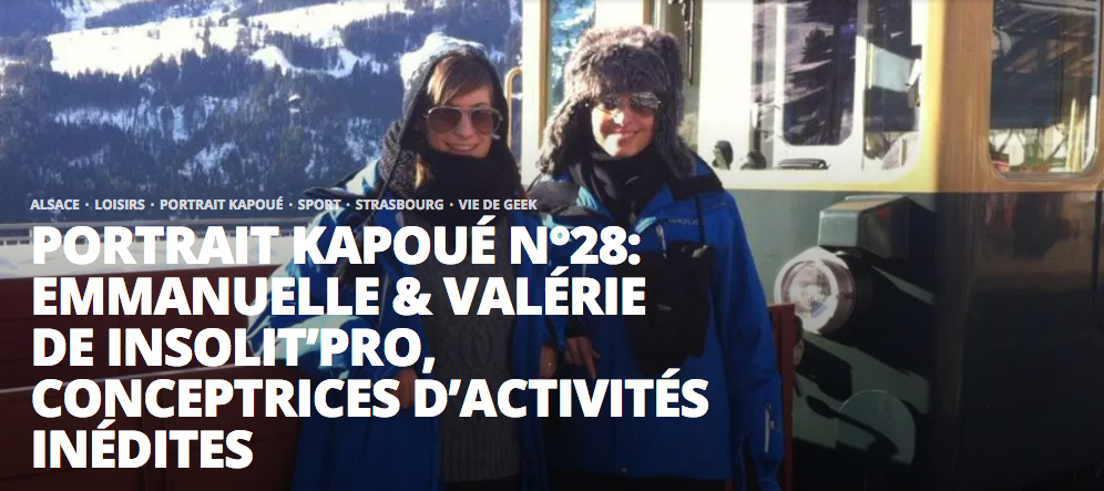 blog Kapoué portrait fondatrice Insolit'PRO